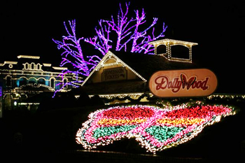 See the lights at Dollywood this holiday season!