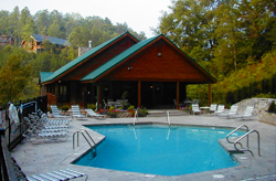 Stay in one of our cabins with pool access!