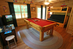 Black Bear Holler has a wonderful gameroom!