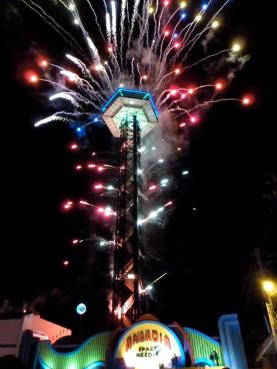 4th of July Midnight Parade and Fireworks Display Space Needle Gatlinburg, TN