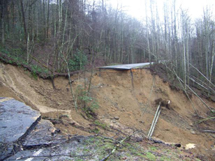 Newfound Gap US441 Landslide